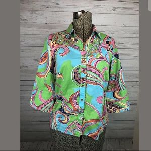 Lilly Pulitzer size 6 paisley button down